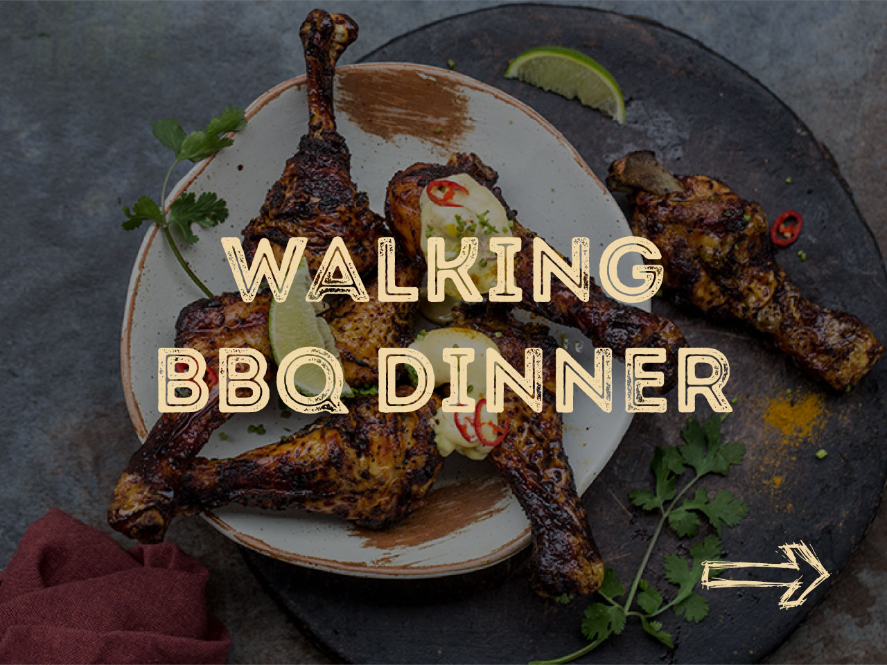Walking BBQ Dinner arrangement